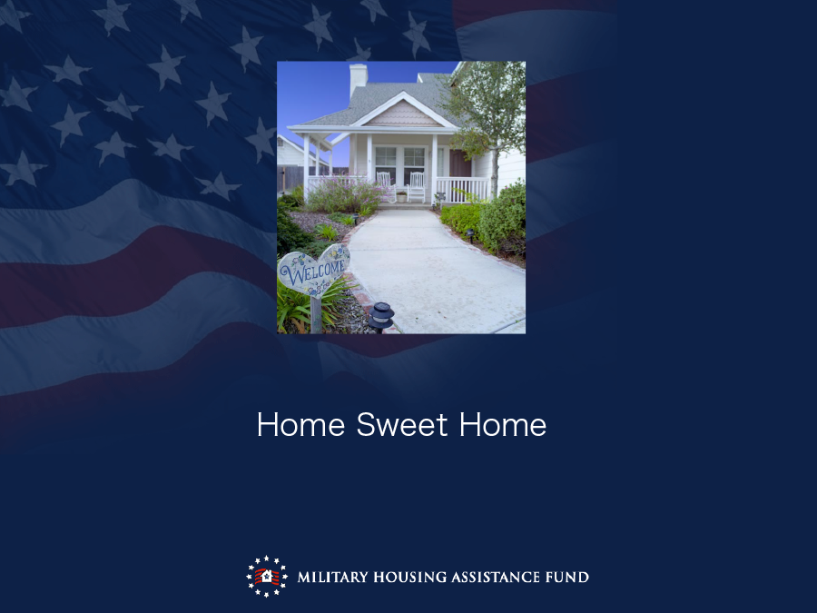 military housing assistance fund Military allotments alert on nov 21,  navy and marine corps relief society, or affiliates of the air force assistance fund privatized housing payments: service .